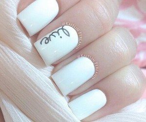 nails, white, and live image