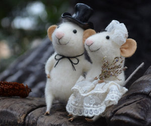 couple, mouse, and cute image