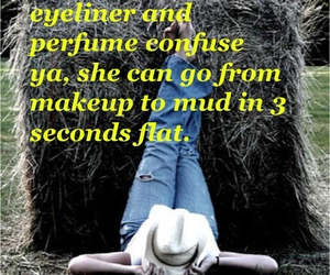 country, makeup, and mud image