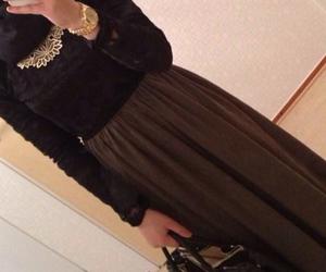 skirt and hijabi image
