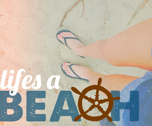 beach, edit, and quote image