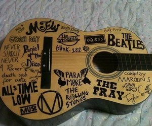 guitar, music, and band image