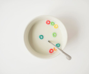 breakfast, cereal, and milk image