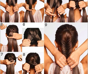 brown hair, hair, and fashion style image
