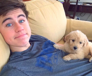 nash grier, nash, and puppy image