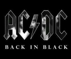 ACDC, back in black, and rock image