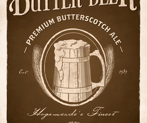 harry potter, butterbeer, and butter beer image