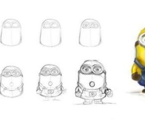 draw, minions, and despicable me image