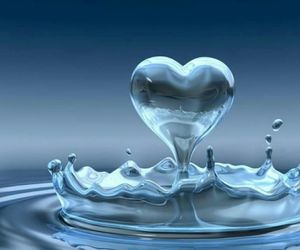 <3, water, and blue image