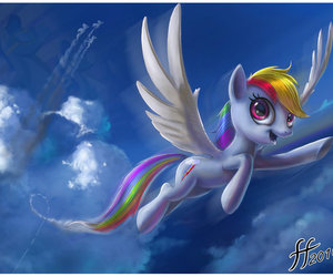 my little pony and rainbow image