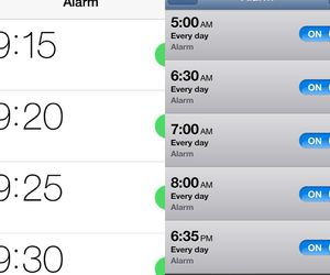 alarm, school, and time image