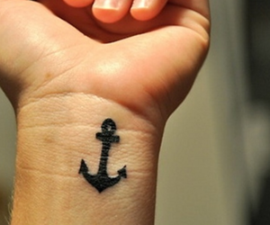 tattoo, anchor, and hand image
