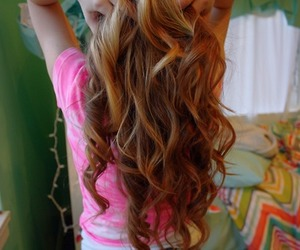 hair, curls, and tumblr image