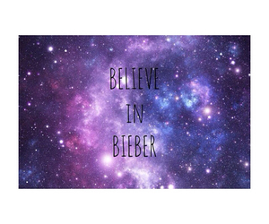 believe, galaxy, and bieber image