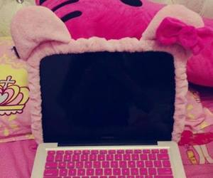 pink and laptop image