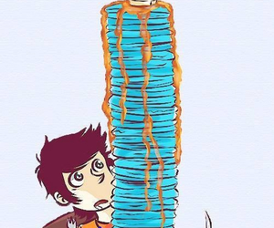 blue, food, and pjo image