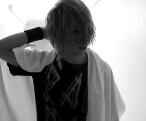 bass, black and white, and jrock image