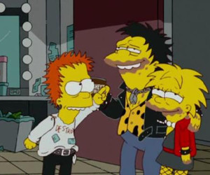 the simpsons, sex pistols, and bart image