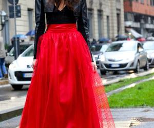 red, black, and fashion image