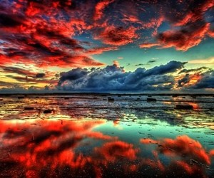 clouds, hipster, and ocean image
