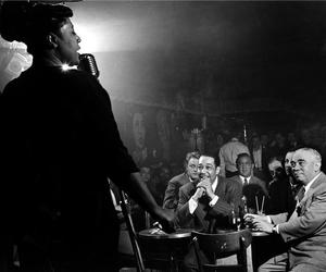 ella fitzgerald, black and white, and singer image