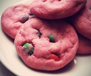 Cookies, m&ms, and pink image