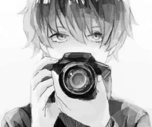 anime, camera, and boy image