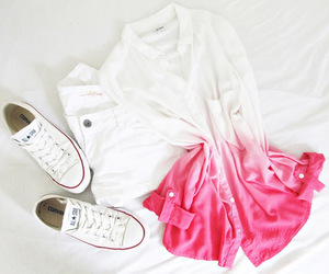 pink, converse, and outfit image