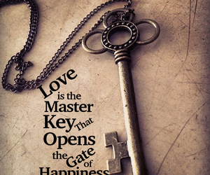 love, key, and happiness image