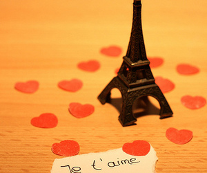 hearts, paris, and eifel tower image