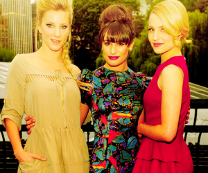 lea michele, dianna agron, and heather morris image