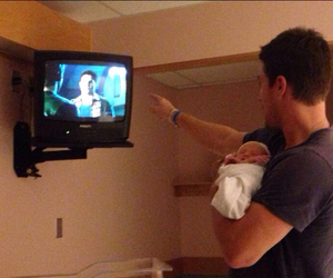 baby, stephen amell, and arrow image