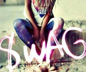 swag, girl, and galaxy image