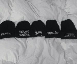 grunge, hat, and beanie image
