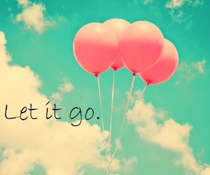 balloons, sky, and let it go image