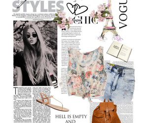 floral, girly, and outfit image