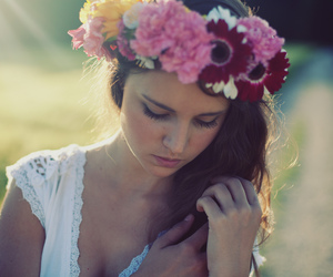 flowers, girl, and lovely image