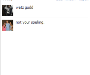 awesome, bad spelling, and chat image