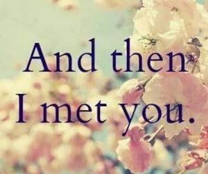 love, flowers, and meet image