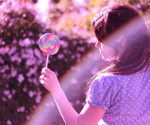 girl and lollipop image
