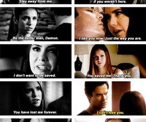 cool, damon and elena, and cute image