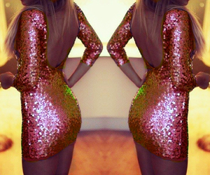 dress, party, and sparkle image