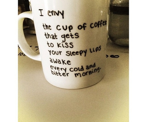 coffee, kiss, and morning image