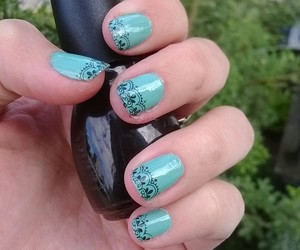 black, nail art, and summer image