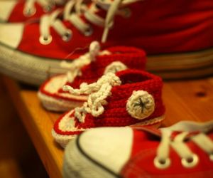 converse, red, and baby image