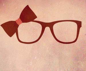 glasses and background image