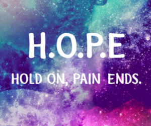 hope, galaxy, and pain image