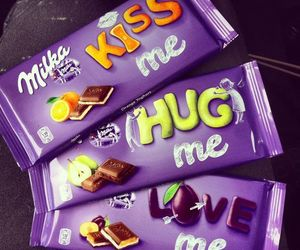 chocolate, milka, and love image