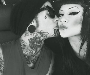 tattoo, kiss, and couple image