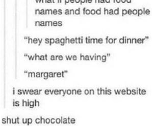 funny, food, and tumblr image